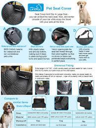 amazon com pet seat cover lifepul tm seat cover for cars
