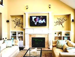Living Room Furniture Tv Simple Fair 80 Modern Living Room With Fireplace And Tv Decorating