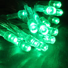 battery powered cl light battery operated 20 led string light set green clear cord led