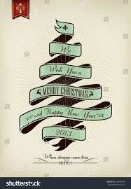 vintage christmas background flag typography stock vector