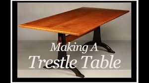 making a trestle table trestle table building process by doucette and wolfe fine handmade