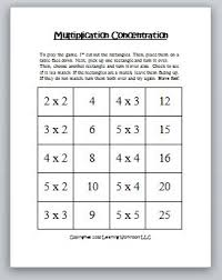 classroom freebies multiplication concentration games