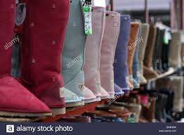 ugg boots sale in melbourne ugg boots lined up for sale at melbourne s markets