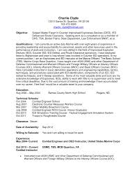 Infantry Resume Examples by Marine Chief Engineer Cover Letter