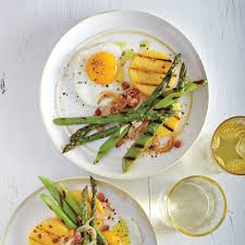 Dinner Egg Recipes Grilled Asparagus With Fried Eggs And Pancetta Recipe Myrecipes
