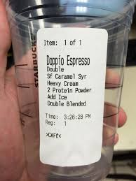 Most Ridiculous Starbucks Order by Starbucks Protein Shake Keto