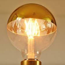 e40 led light bulb g95 with gold reflector top es