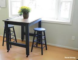 before and after diy eat in kitchen table makeover