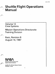 shuttle flight operations manual vol 12 crew systems space