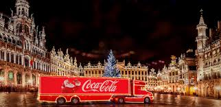 photos coca cola christmas trucks come to town across europe the