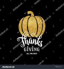 happy thanksgiving glitter vector illustration happy thanksgiving day luxury stock vector