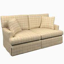 Saybrook Outdoor Furniture by Chatham Tattersall Brick Brown Saybrook 2 Seater Slipcovered Sofa