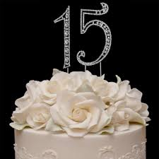 15 wedding anniversary vintage sweet 15 15th anniversary or quinceañera cake topper
