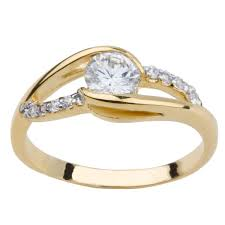 gold engagement rings uk yellow gold plate cz dress or engagement ring size k