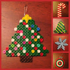 How To Make Christmas Ornaments Out Of Beads - 141 best perler beads images on pinterest hama beads perler