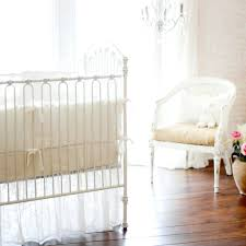 All White Crib Bedding Bedroom Interesting White Ruffleedding With Smooth Outstanding
