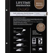 self adhesive photo album pages lifetime memories self adhesive refill sheets big w