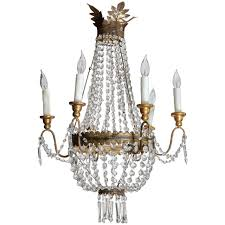 Vintage Crystal Chandelier For Sale Italian Vintage Metal And Wood Crystal Chandelier With Six Arms