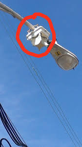 what is street light what is this odd box on a street light in my neighborhood no other