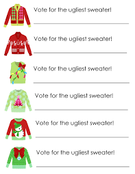 ugly sweater party free printables free printable party