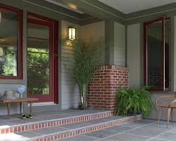 exterior paint color schemes with red brick modern interior