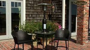 Fire Sense Propane Patio Heater by Hammer Tone Bronze Finish Table Top Patio Heater 61322 Youtube