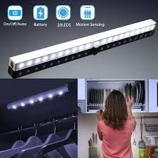 battery operated led lights for kitchen cabinets led closet lights tsv wireless 20 led motion sensor cabinet light battery operated lighting bar walmart