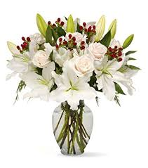 white bouquet benchmark bouquets white elegance with vase
