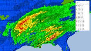 Rainfall Totals Map Mississippi Texas Hurricane