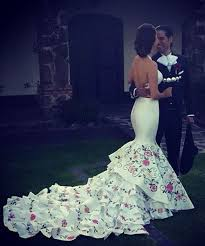 mexican wedding dress flower embroidered and flowers embroidered wedding dress