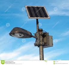 Outdoor Solar Lamp Post by Solar Powered Lamp Post Stock Photo Image 3917640
