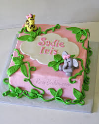 jungle baby shower cakes behance