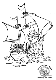 pirate ship coloring pages getcoloringpages com