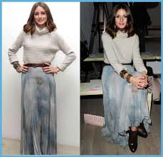 olivia palermo in pleated chiffon the affordable wardrobe