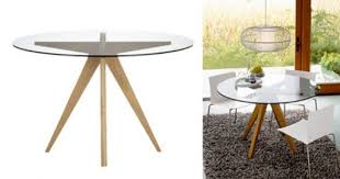 cb2 round dining table teepee dining table dining tables better living through design