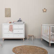 wood nursery dresser 6 drawers w top small white oak oliver