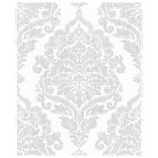 wilko wallpaper damask silver at wilko com