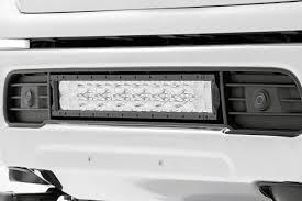 20 In Light Bar 20 Inch Dual Row Cree Led Bumper Kit For 16 17 Nissan Titan Xd