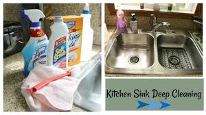 Deep Kitchen Sink How I Deep Clean My Kitchen Sink Speed Cleaning Youtube