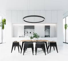 interior black and white dining room set with regard to nice