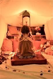 the peace tent creating a calm space where your kid can read or