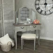 Vintage Style Vanity Table Dressing Tables Style Ivory Oak White Melodymaison