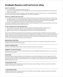 What Is Resume Summary Grad Resume Example Sample Resume For Graduate