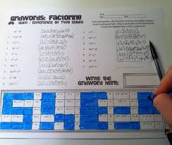 fun way to review all the different types of factoring the