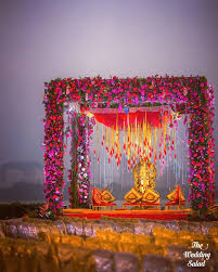 decoration for indian wedding outdoor traditional floral mandap decor indian wedding ideas h