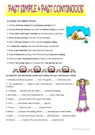 Connectives And Conjunctions Worksheets 81 Free Esl Past Simple And Past Continuous Worksheets