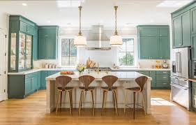 is green a kitchen color is this the year blue and green kitchen cabinets edge out white