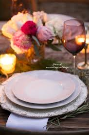 a romantic holiday party table setting french country cottage