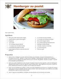 recette de cuisine pour regime page 87 ma recette minceur d hamburger au poulet maigrir sans faim