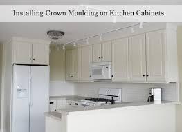 how to add crown moulding to cabinets adding crown moulding to wall kitchen cabinets momplex